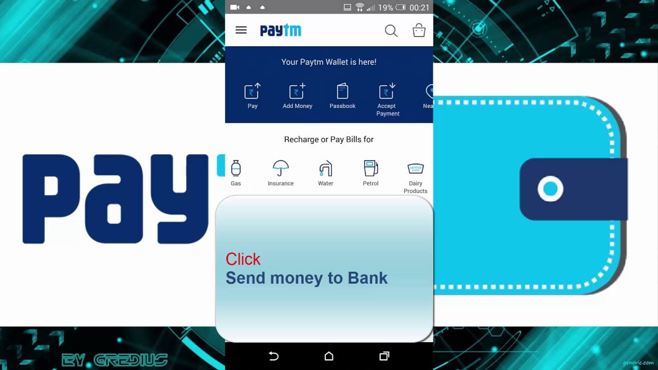 How to transfer credit card balance to saving account through Paytm ...