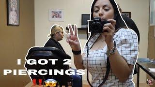 VLOG #20 | I GOT 2 PIERCINGS | LESLIE GARZA