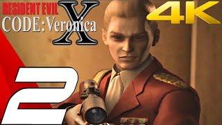 Resident Evil Code Veronica X HD - Gameplay Walkthrough Part 2 - Military Training Facility [4K UHD]