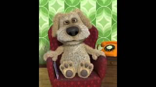 Говорящая,прикольная и смешная собака Бен поет лада седан баклажан