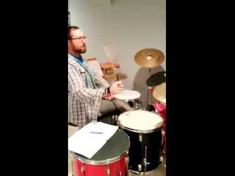 A drum beat demonstration for one of my students.