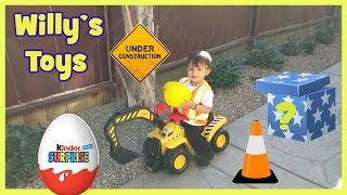 Fisher Price Big Action Dig N Ride KINDER SURPRISE EGG Construction Worker - Willys Toys