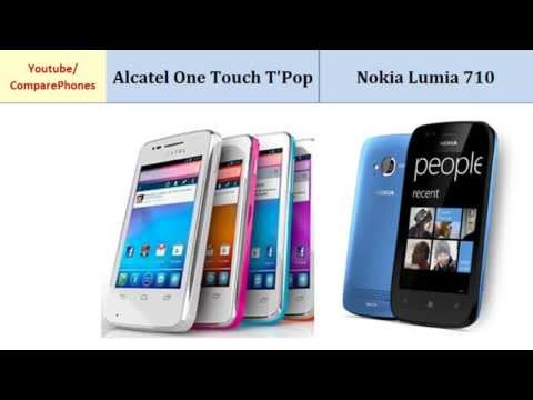 Alcatel One Touch T'Pop versus Nokia Lumia 710, full specs