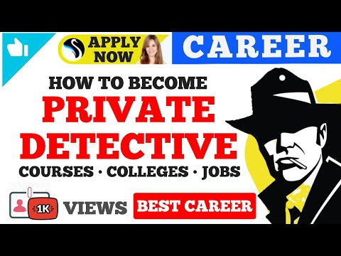 How to start career as a private detective | Courses | Colleges | Salary | Opportunity |  Studyfact