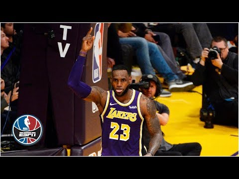 LeBron James passes Michael Jordan on all-time scoring list and gets emotional | NBA Highlights thumbnail