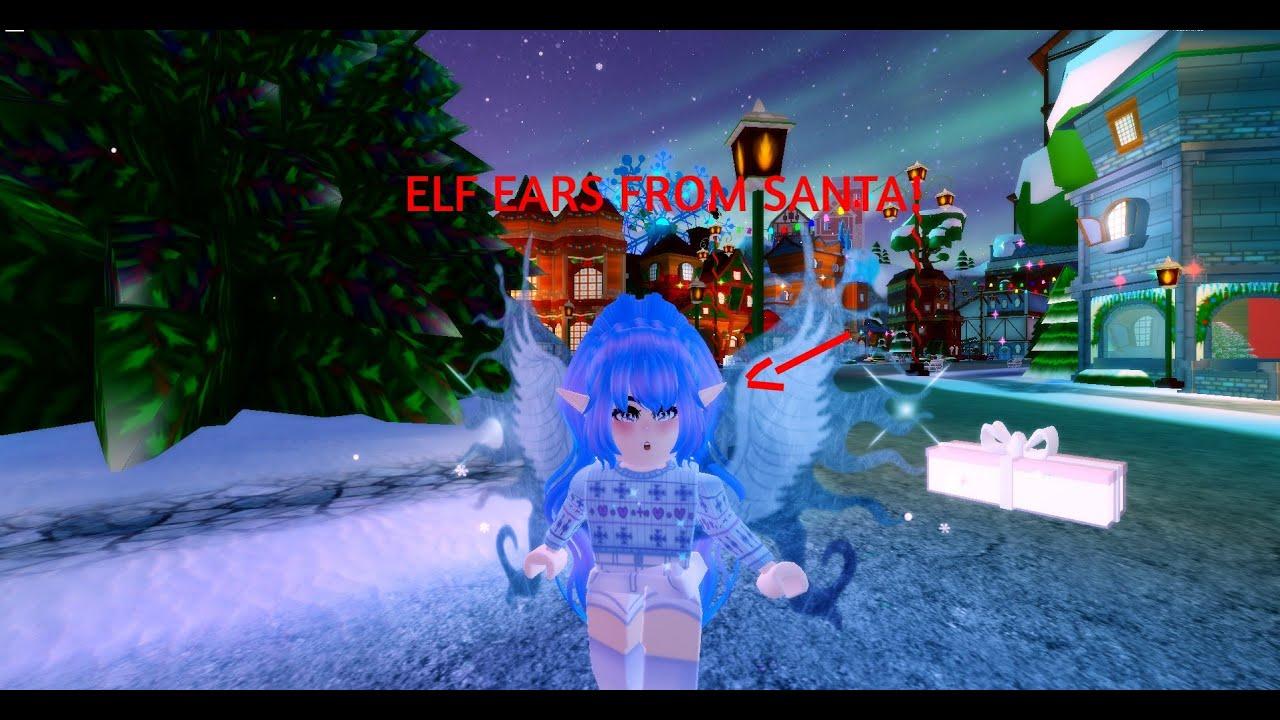 I Got Elf Ears From Santa Roblox Royale High Youtube