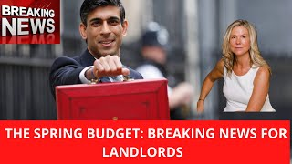 BREAKING PROPERTY NEWS !!!!!! BREAKING BUDGET NEWS FOR LANDLORDS
