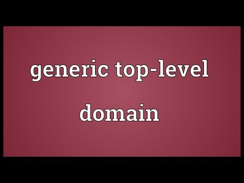 Generic top-level domain Meaning