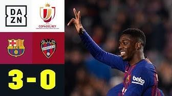 Ousmane Dembele macht Hinspiel vergessen: Barcelona - Levante 3:0| Copa del Rey | DAZN Highlights