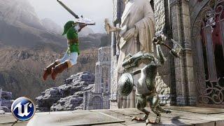 Unreal Engine 4 - Zelda : Link vs Dynalfos