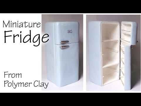 Miniature Refrigerator / Fridge - Polymer Clay Tutorial