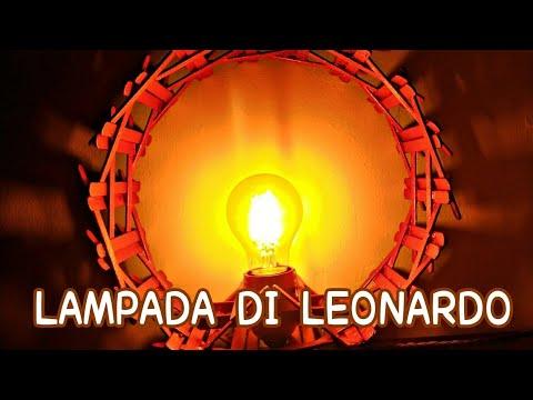 Lampada di Leonardo fai da te, ispirata ad un progetto di Leonardo da Vinci
