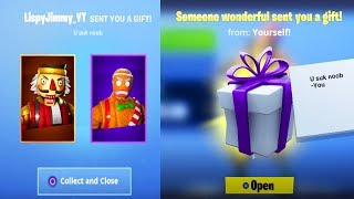 HOW TO GIFT SKINS IN FORTNITE! (FORTNITE GIFTING SYSTEM)