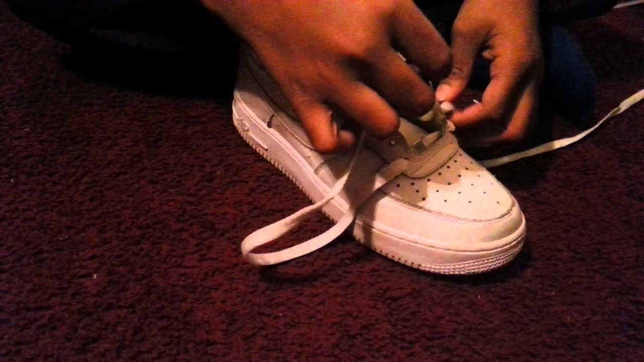 how to lace up nike air force 1s