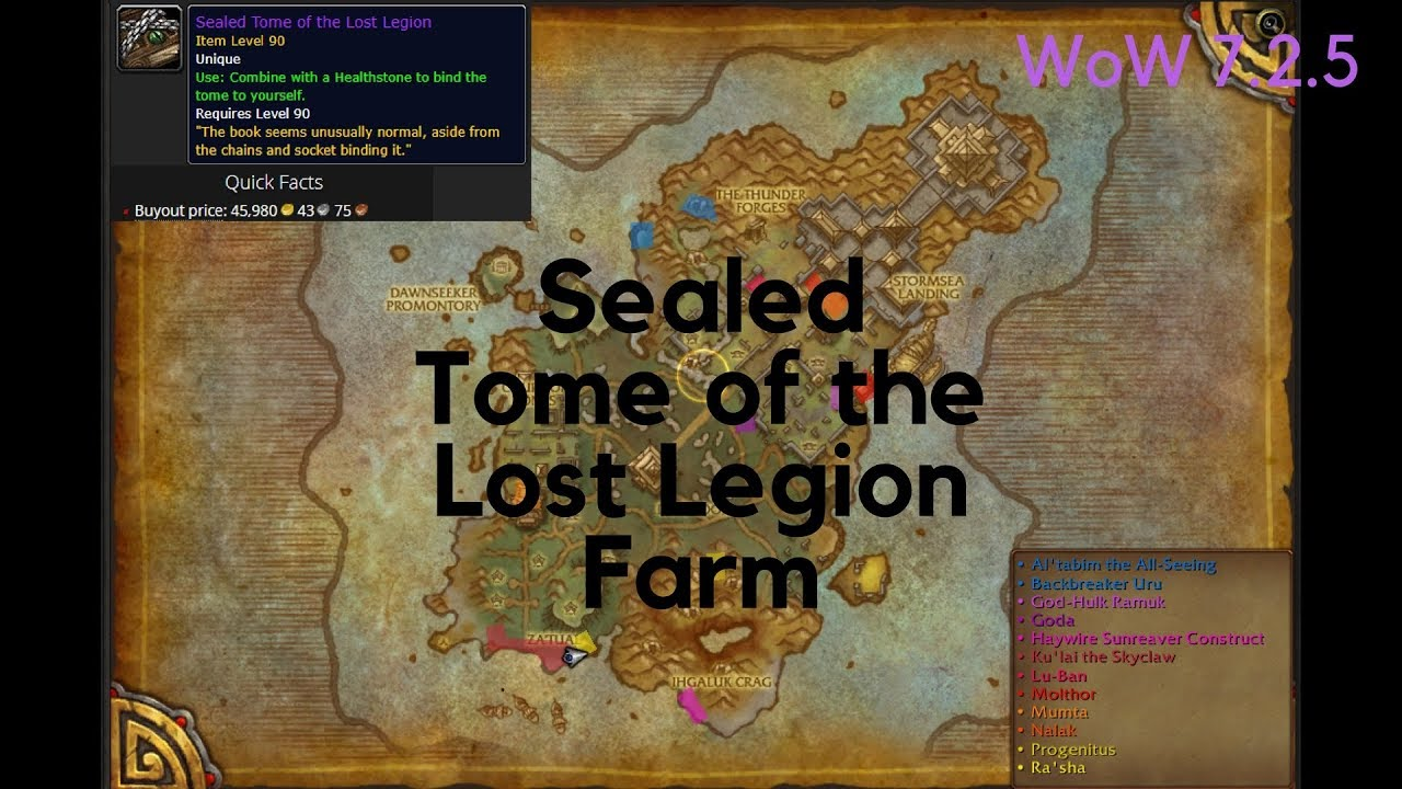 Wow gold farm sealed tome of lost legion isle of thunder youtube wow gold farm sealed tome of lost legion isle of thunder gumiabroncs Choice Image
