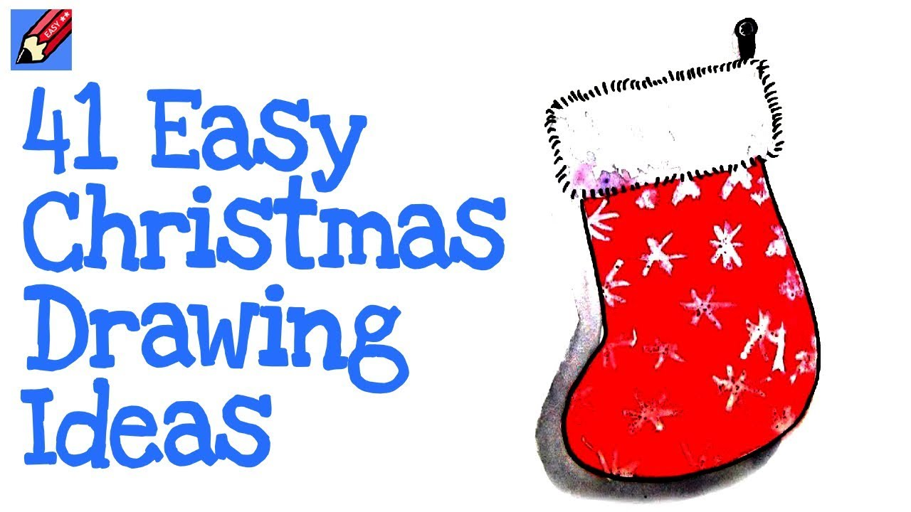 41 Real Easy Christmas Drawing Ideas