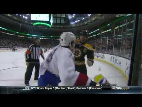 Zdeno Chara jumps Emelin after a cheapshot on Seguin w/SlowMo 3/3/13