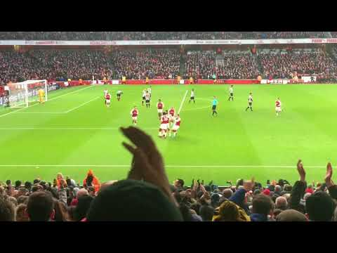 Mesut Ozil Goal - Arsenal v Newcastle United (1-0) - 16 Dec 2017