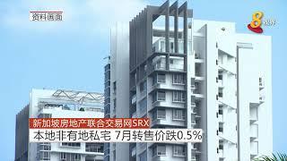 新加坡房地产联合交易网 SRX 本地非有地私宅7月转售价跌0.5%