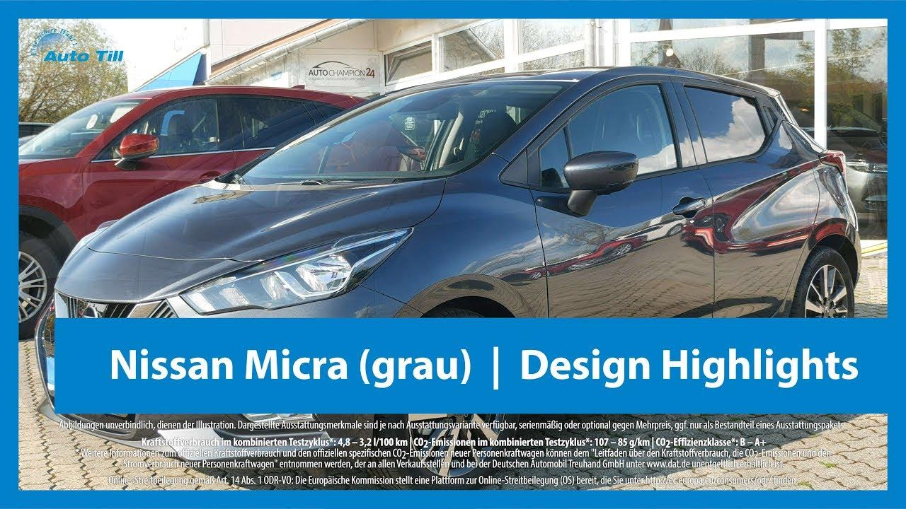 nissan micra gunmetal grey metallic   design highlights - youtube