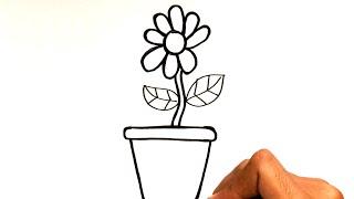 Menggambar Mewarnai Bunga Dalam Pot Untuk Anak Youtube