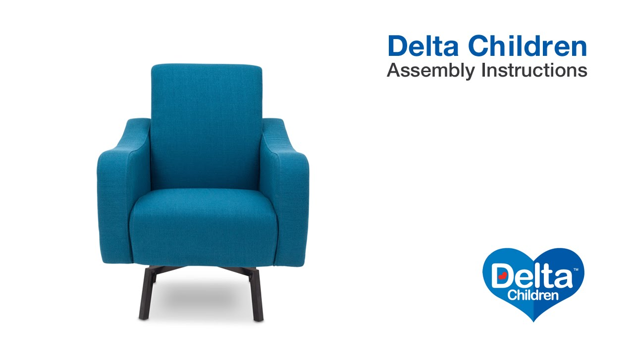 Delta Children Chair Delta Children Lux Swivel Chair Assembly Video