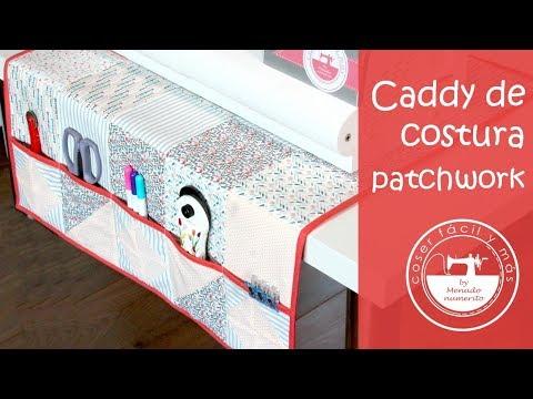 Cómo coser un caddy de costura de patchwork
