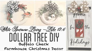 3 DIY DOLLAR TREE FARMHOUSE CHRISTMAS BUFFALO CHECK PROJECTS