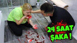 24 SAAT BOYUNCA ŞAKA YAPTIK  Ağızdan Kan Gelme şakası