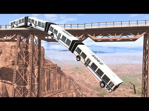 Collapsing Bridge Pileup Car Crashes #13 - BeamNG DRIVE | SmashChan