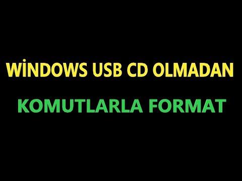usb ve cd olmadan format atma windows 7 8 10
