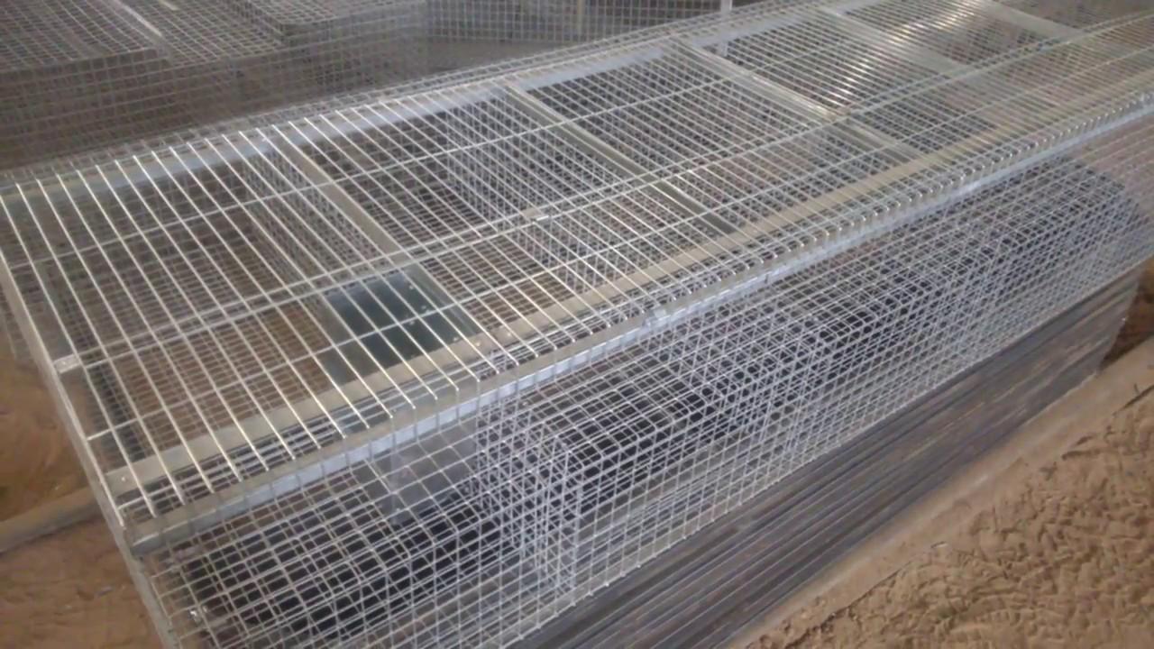 5 апр 2015. Производитель клеток описывает и показывает промышленную клетку для кроликов.