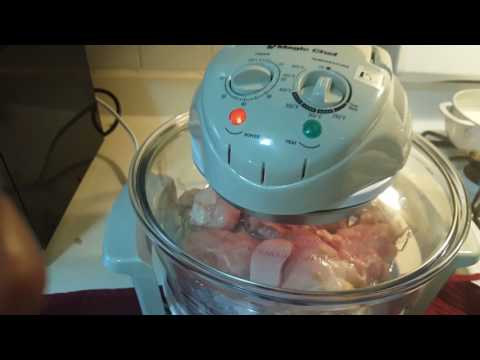 Roasting Chicken And Turkey In Magic Glass Bowl Convection Oven