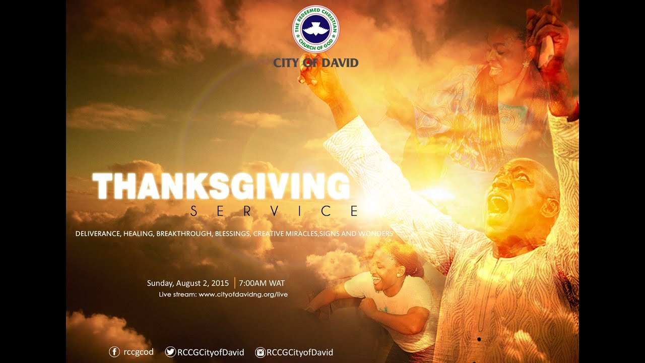 thanksgiving service rccg