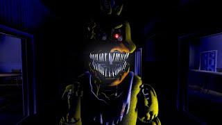NIGHTMARE CHICA Y NIGHTMARE BONNIE Me PERSIGUEN Por TODA LA CASA De FNAF 4 | FNAF 4 Doom Mod