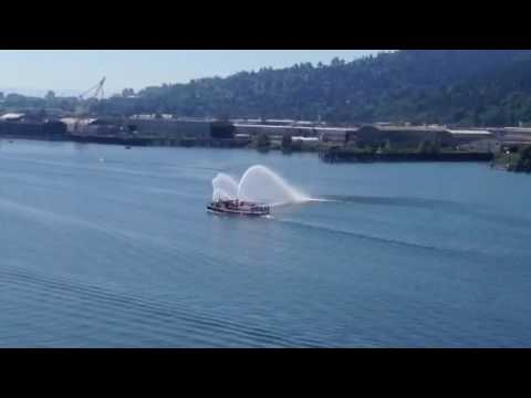 Portland Fire Boat on Memorial Weekend (Downtown Portland)