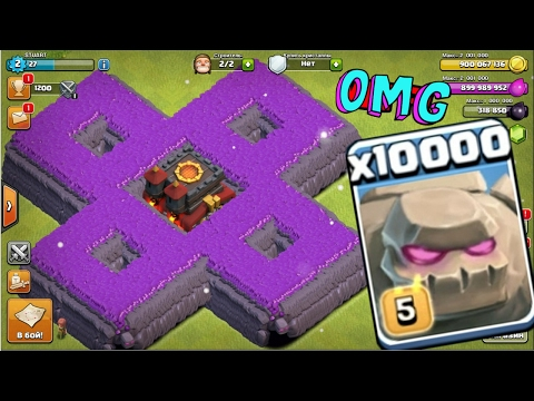 Thumbnail: 10000 golem attack in clash of clans OMG heaviest attack ever in coc history