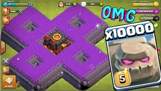 Video 10000 golem attack in clash of clans OMG heaviest attack ever in coc history download MP3, 3GP, MP4, WEBM, AVI, FLV Agustus 2017