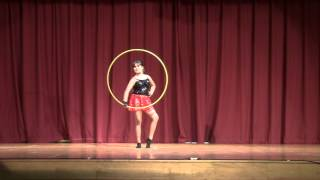 Nishka's beautiful Hula Hoop Dance on Krrish Instrumental Theme Track