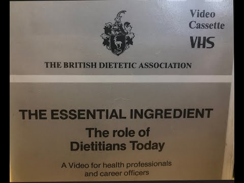 The Essential Ingredient The role of dietitians today. A film from 1988.