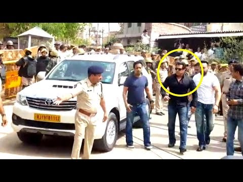 Salman Khan's ENTRY At Jodhpur Court For BlackBuck Case Final Hearing | Full HD UNCUT Video