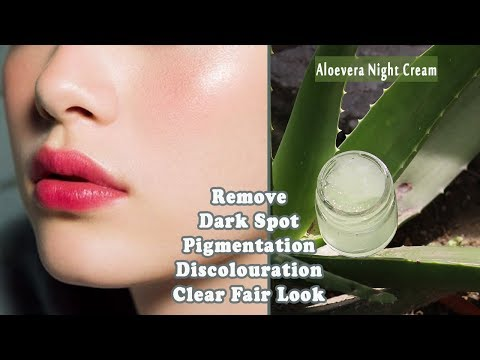 Aloe Vera Night Cream |remove,pigmentation, dark spots and give you clear fair complexion overnight|