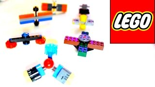 7 DIY LEGO Hand Spinner Fidget Toys! How to make Spinners!