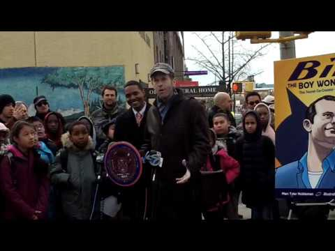 We're LIVE at the street dedication for Batman co-creator Bill Finger in The Bronx!