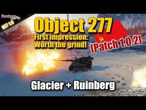 WOT: Object 277, Tier X Soviet Heavy Tank on test Server, Update 1.0.2, WORLD OF TANKS
