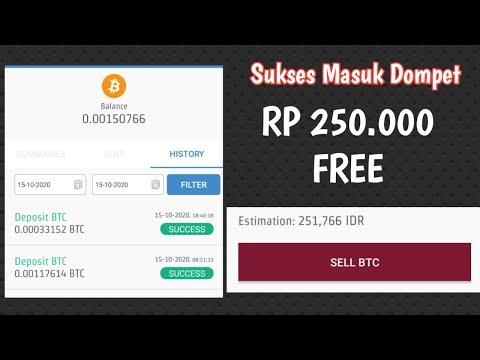 Dapat Uang Rp 250 Ribu Gratis | Website Penghasil Bitcoin Gratis Tercepat