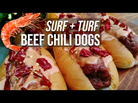 Reef N Beef Chili Dogs