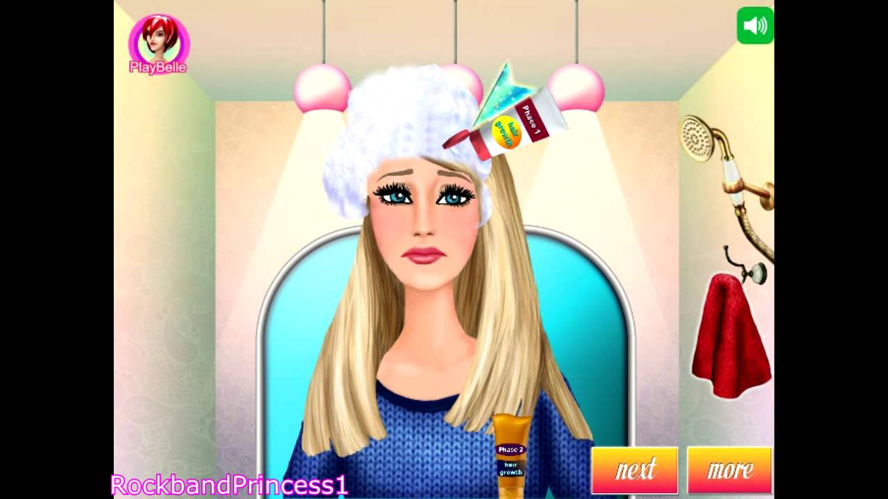 Barbie Games To Play Barbie Hair Caring Games - YouTube