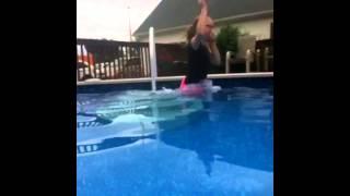 She fell in the pool