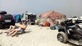 Славянка, море, пляж, жара. Отдых в палатках на берегу Японского моря. Хасанский район. Июль 2018.